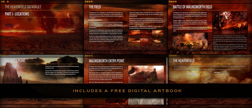The Heavenfield Datavault - includes a free digital artbook