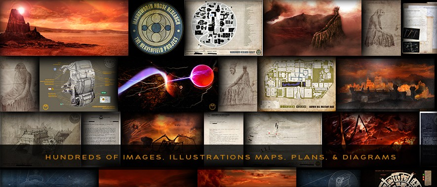 The Heavenfield Datavault - Hundreds of images, illustrations, maps, plans and diagrams
